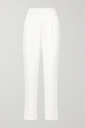 Rasario Satin Straight-leg Pants