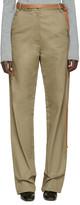Loewe Beige Wide-leg Belted Trousers