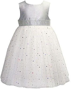 JCPenney Marmellata Silver Ballerina Dress - Girls 12m-24m