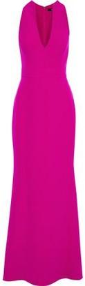 Badgley Mischka Fluted Stretch-cady Gown