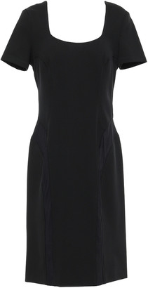 Versace Mesh-paneled Stretch-crepe Dress
