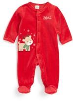 Little Me Infant Boy's Reindeer Velour Footie