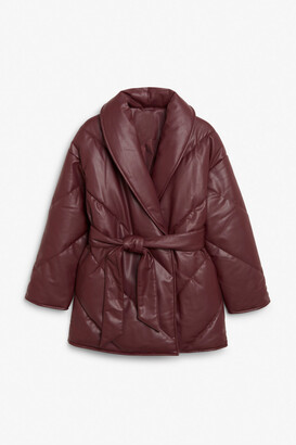 Monki Faux leather coat