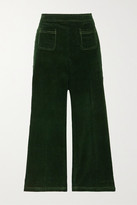 ALEXACHUNG Cotton-corduroy Straight-leg Pants
