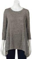 Dana Buchman Women's Marled Shark-Bite Sweater