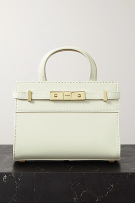 Saint Laurent Manhattan Micro Leather Tote - Off-white