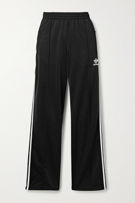 adidas Firebird Striped Tech-jersey Track Pants - Black
