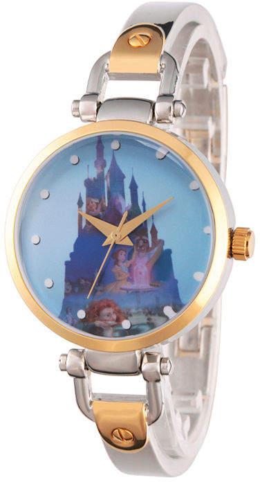 Disney Princess Castle Womens Two Tone Watch-Wds000071
