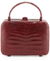 Nancy Gonzalez Crocodile Box Crossbody Bag
