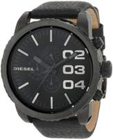 Diesel Men's Double Down DZ4216 Leather Quartz Watch