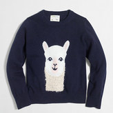 J.Crew Factory Girls' alpaca intarsia popover sweater