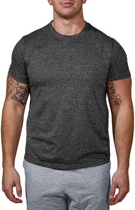 90 Degree By Reflex Heathered Crew Neck Short Sleeve T-Shirt