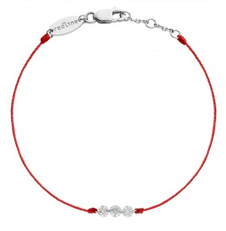 Redline Three Liberty Red String Bracelet - White Gold