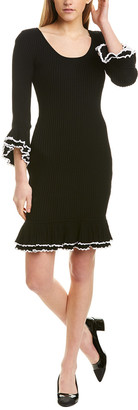 Milly Ruffle Sweaterdress