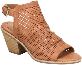 Sofft Slouchy Leather Heeled Sandals - Milly