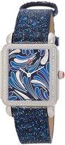 Michele Women's Deco Ii Diamond 32mm Leather Band Quartz Watch Mww06x000031