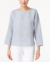 Eileen Fisher Linen Chambray Boxy Top