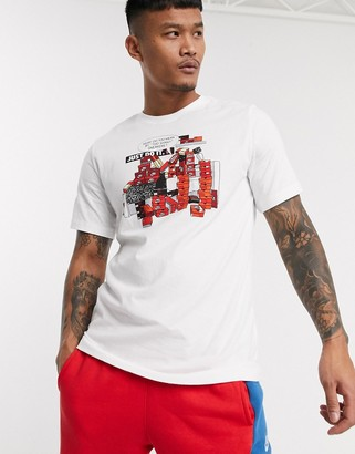 Nike graphic print t-shirt in white