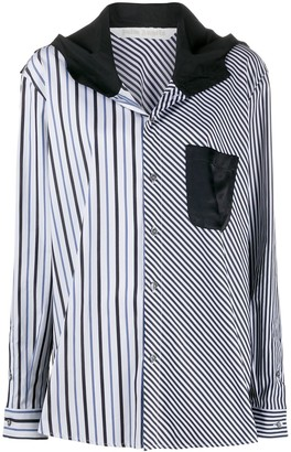 Palm Angels Striped Hooded Shirt