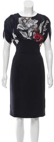 Blumarine Printed Midi Dress