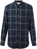 Officine Generale Japanese twill plaid shirt