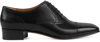 Gucci perforated Oxford shoes