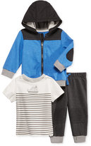 First Impressions 3-Pc. Colorblocked Hoodie, T-Shirt & Jogger Pants Set, Baby Boys (0-24 months), Only at Macy's