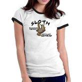 Eddany Sloth Running Team Let's nap instead Ringer Women T-Shirt