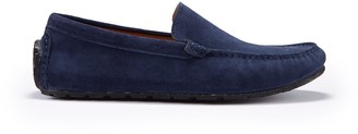 Hugs & Co Tyre Sole Driving Loafers Navy Blue Suede