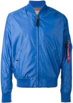 Alpha Industries zipped bomber jacket