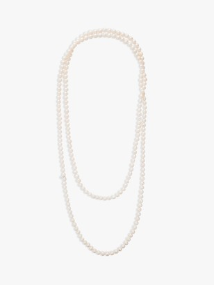 Claudia Bradby Long Freshwater Pearl Rope Necklace, White