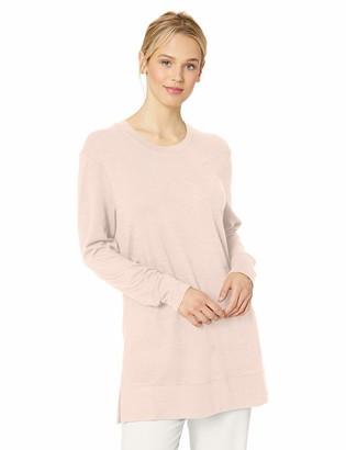Daily Ritual Amazon Brand Women's Cozy Knit Side-Vent Tunic Light Grey Heather X-Small