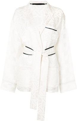 Haider Ackermann Jacquard Kimono Style Shirt