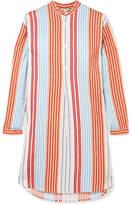 Paul & Joe Striped Poplin Shirt - Coral