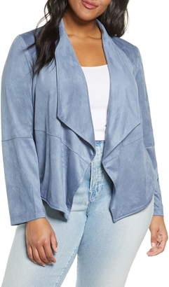 BB Dakota Suede It Out Drape Front Faux Suede Jacket
