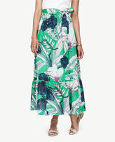Ann Taylor Palm Leaf Maxi Skirt