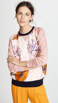 La Prestic Ouiston Crew Neck Floral Sweater