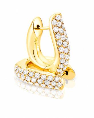 Tamara Comolli Pave Diamond Hoop Earrings in 18K Yellow Gold