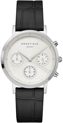 ROSEFIELD NCBS-N94 Gabby Silver Black Leather