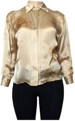 Ellen Tracy Gold Silk Top for Women