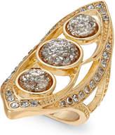 Thalia Sodi Gold-Tone Multi-Crystal Statement Ring, Created for Macy's