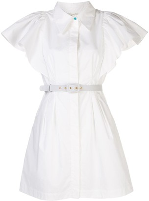 Nicholas Ruffle Sleeve Shirt Dress