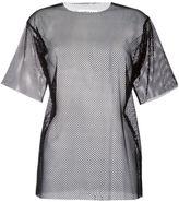 MM6 MAISON MARGIELA mesh T-shirt - women - Polyamide/Spandex/Elastane - L