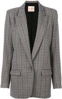 Erika Cavallini checked blazer jacket