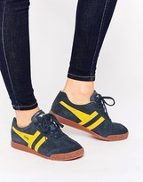 Gola Classic Harrier Sneakers In Yellow & Navy