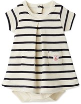 Petit Bateau Baby girl striped bodysuit dress