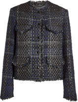 Rag & Bone Tweed Blazer with Cotton and Wool