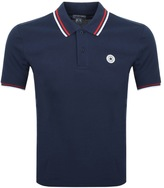 Converse Twin Tipped Polo T Shirt Navy