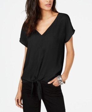 INC International Concepts Inc Petite Tie-Front Top, Created for Macy's