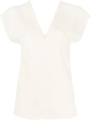 The Row V-back shortsleeved blouse